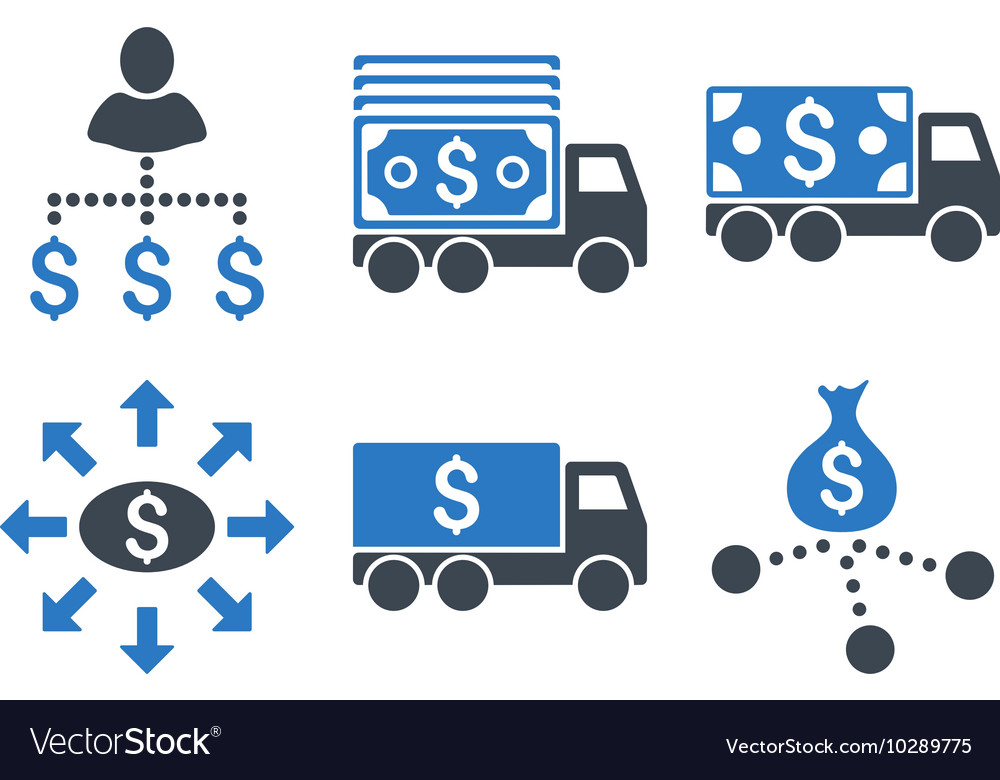 Cash Delivery Flat Icons vector image