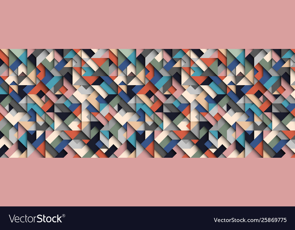 Colorful abstract geometric background 3d