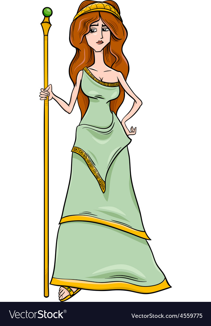 Greek goddess hera cartoon vector image
