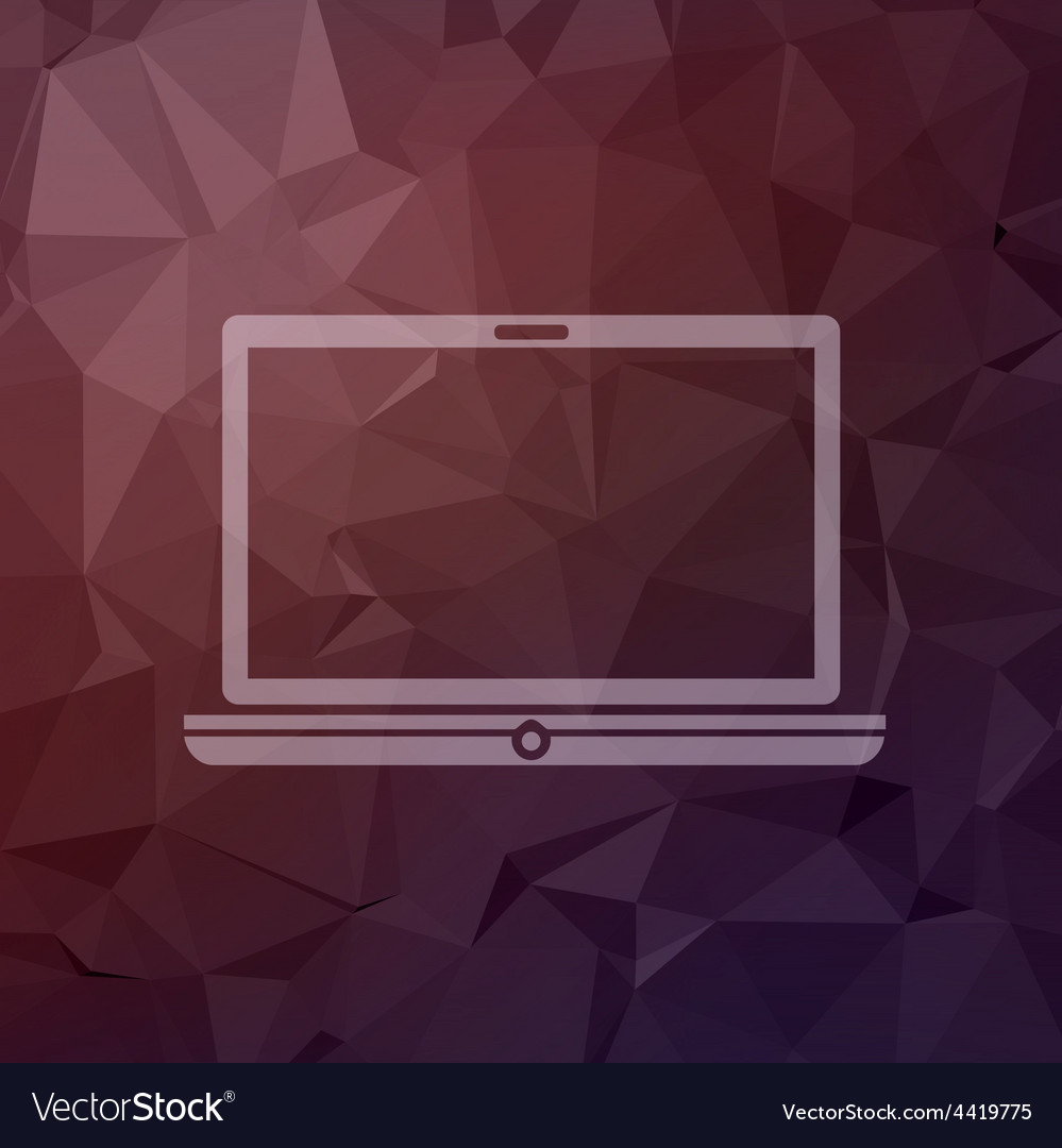 Modern laptop in flat style icon