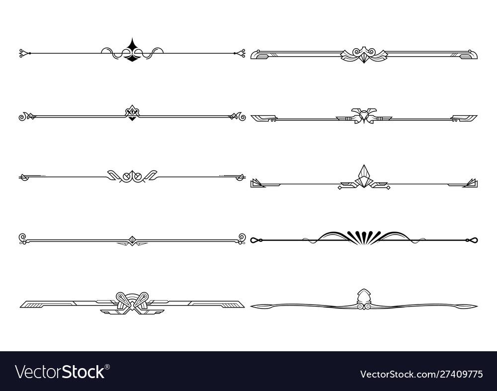 Set dividers in border decorative design