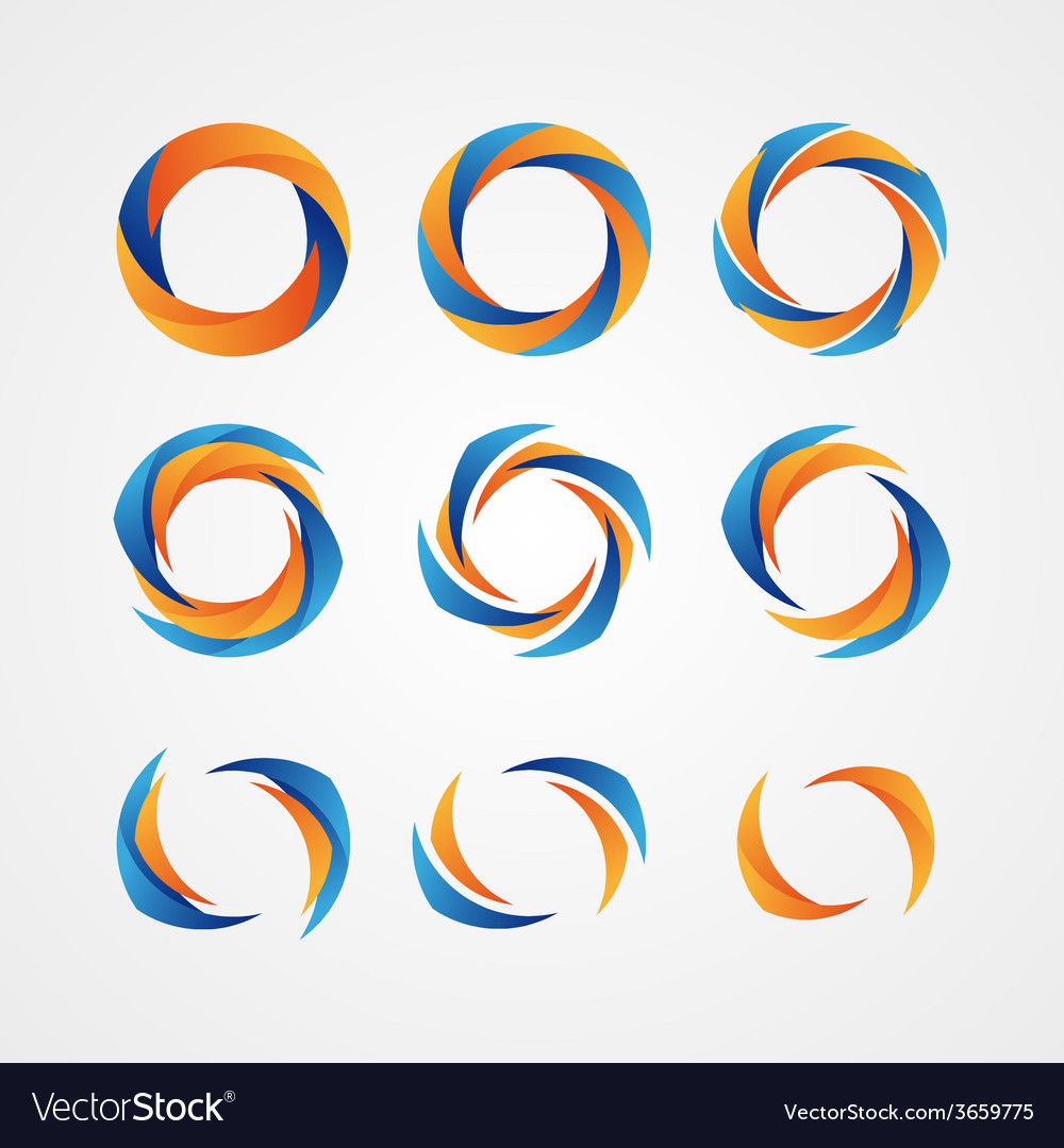Set of circular creative logos