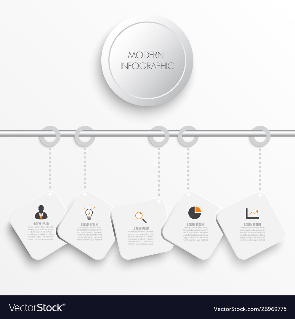 Timeline infographics pepers design template with