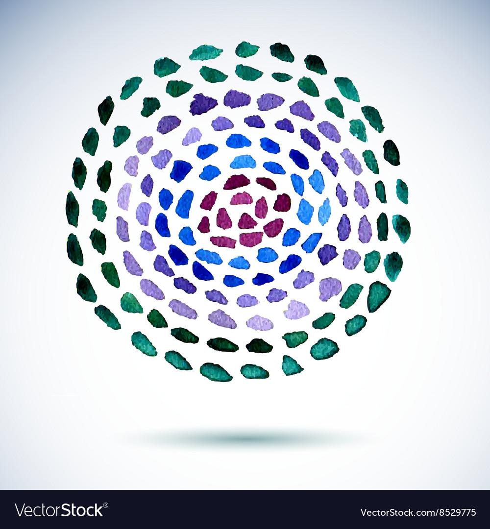 Watercolor splashes seamless pattern