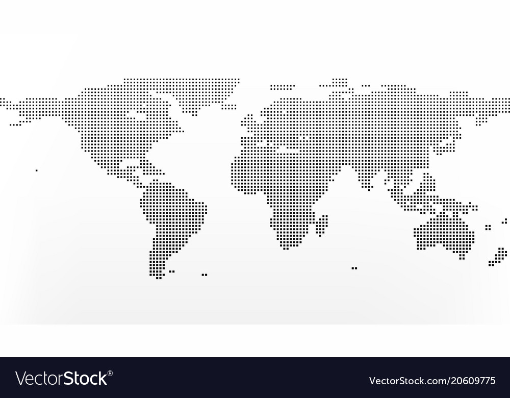 World map in squares earth business concept in vector image gumiabroncs Choice Image