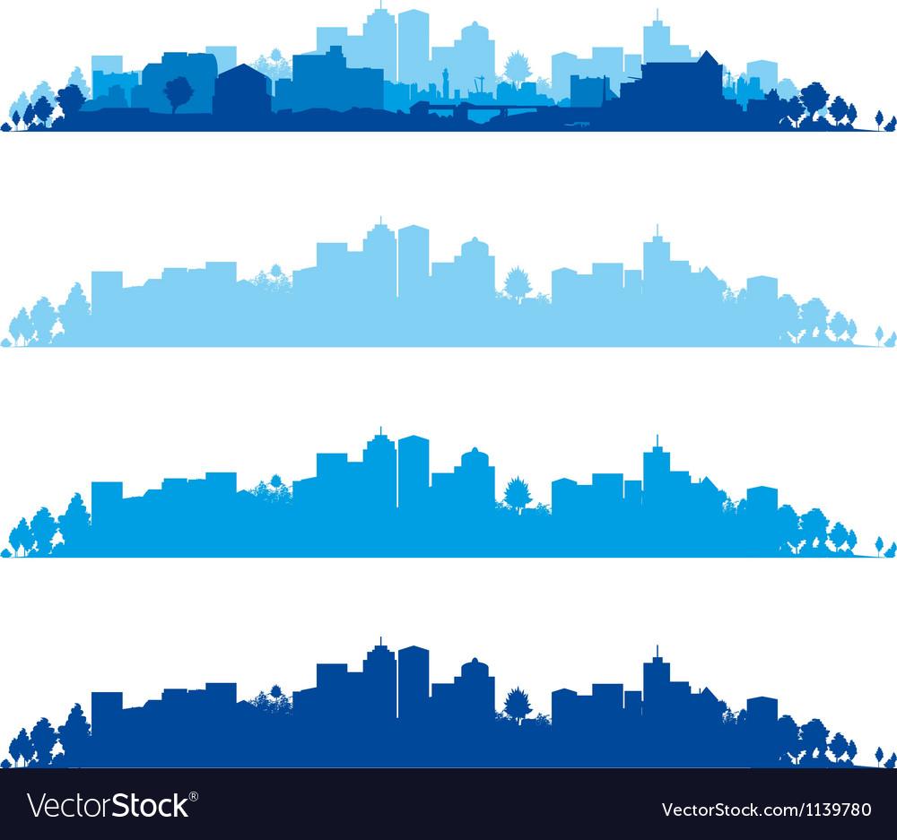 Cityscape wide