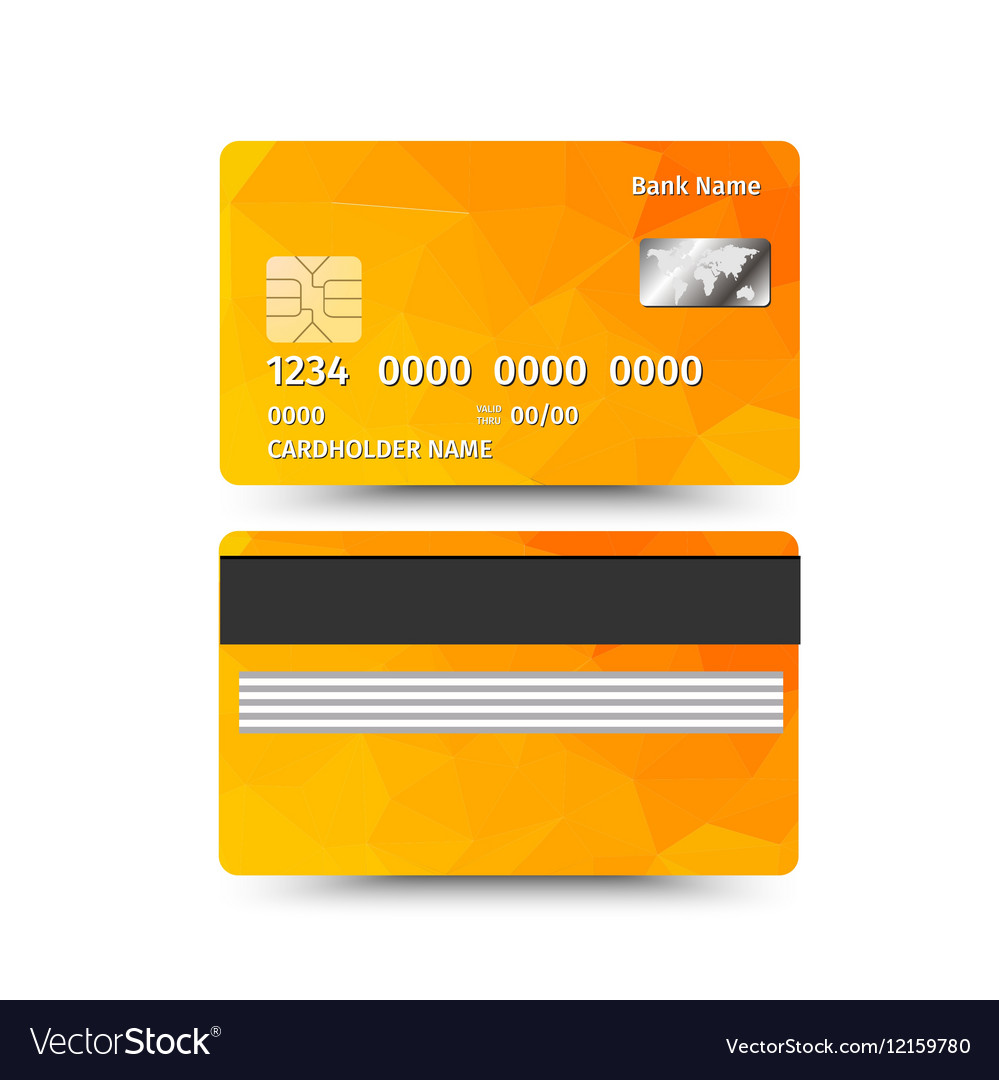 Credit card two sides with Abstract design