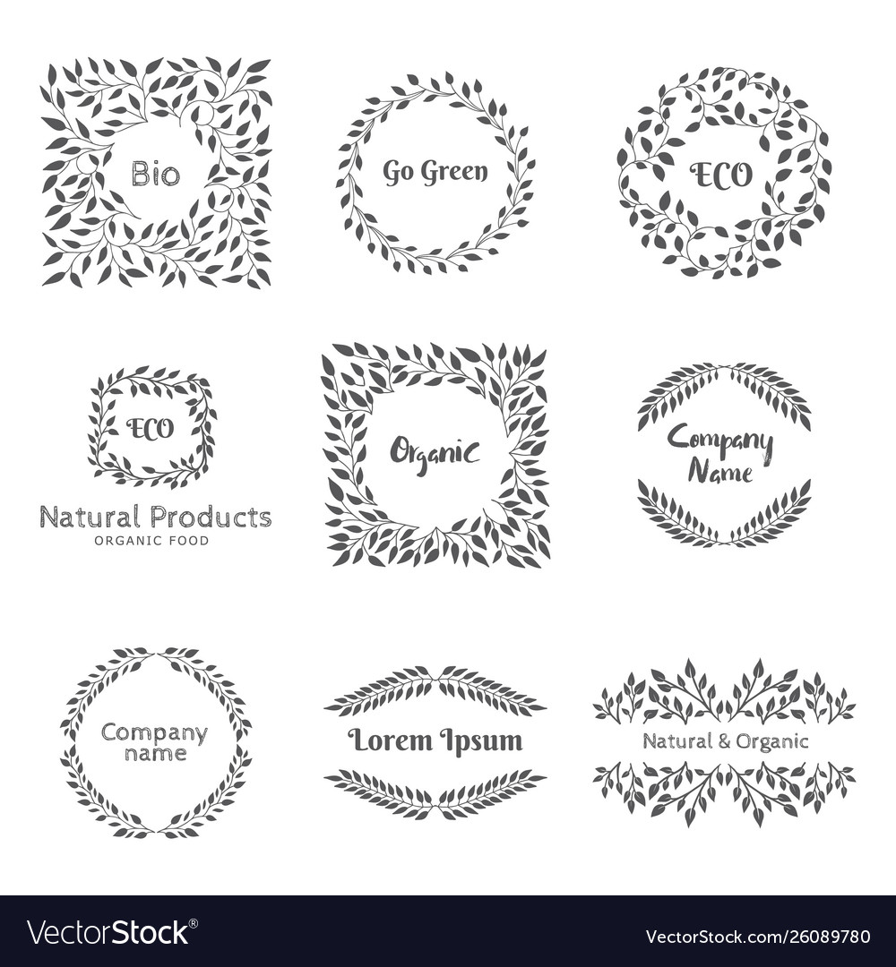 Elements for emblem or label