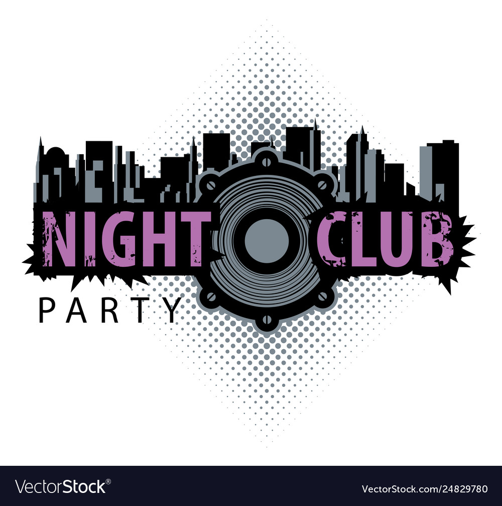Logo for a night club with speaker