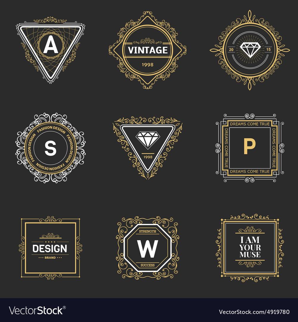 Monogram Template | Monogram Template Royalty Free Vector Image Vectorstock