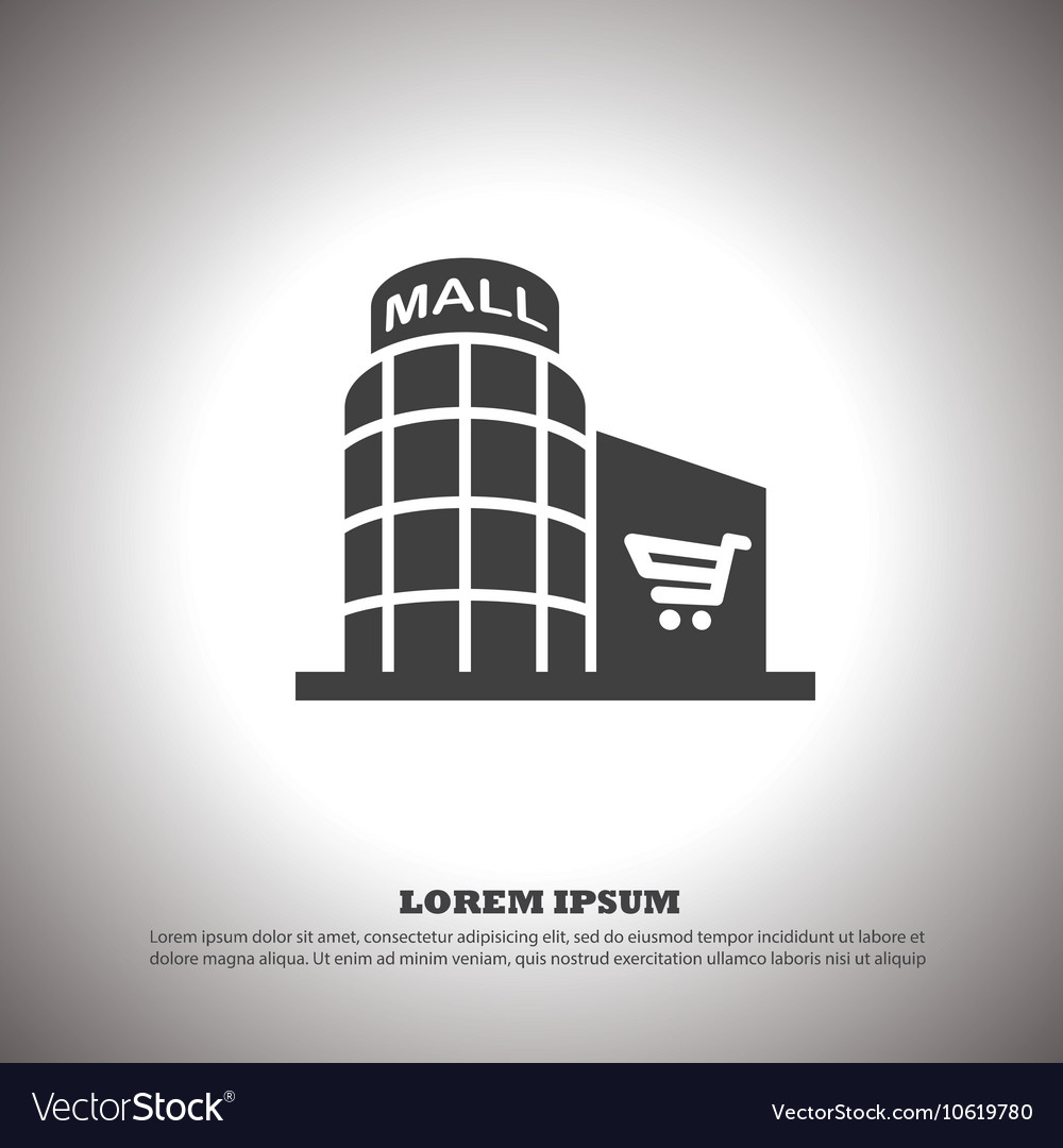 Shopping mall icon