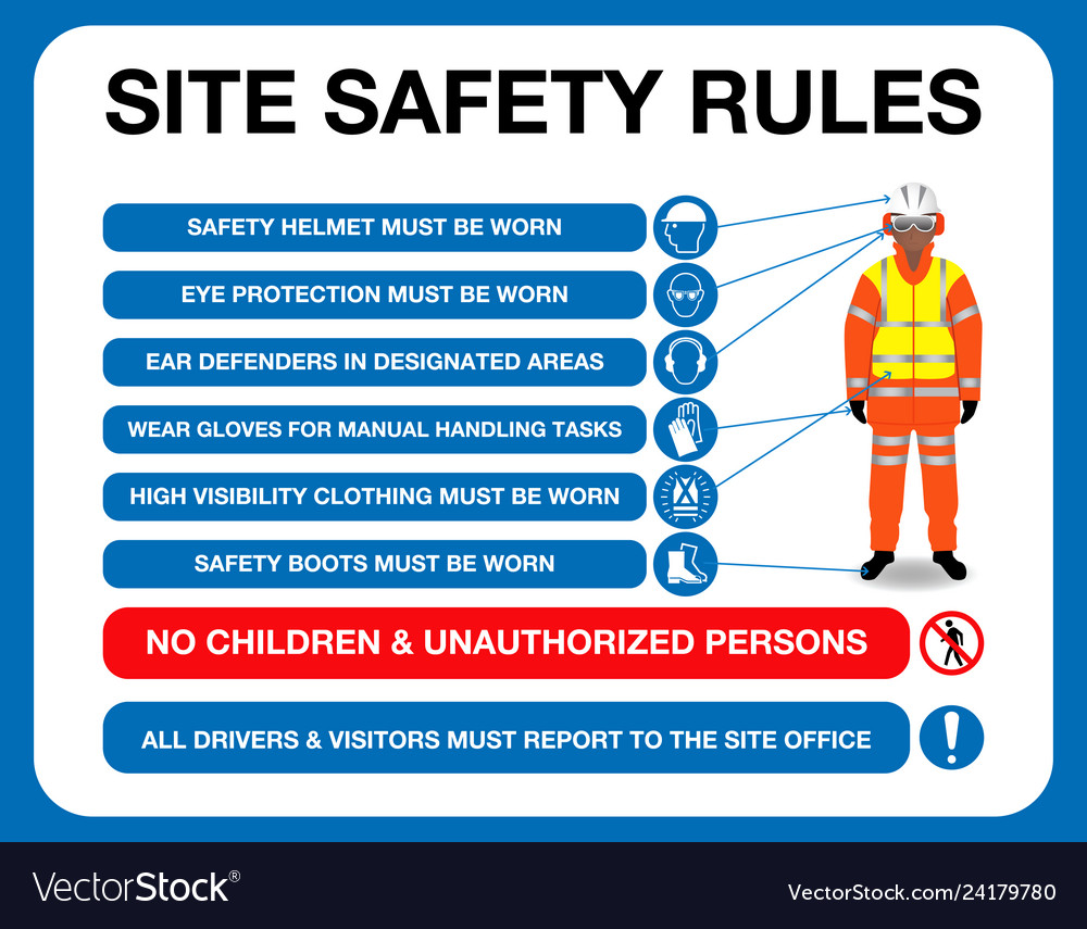 Site safety rules board