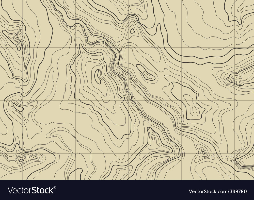 Topographic map Royalty Free Vector Image   VectorStock