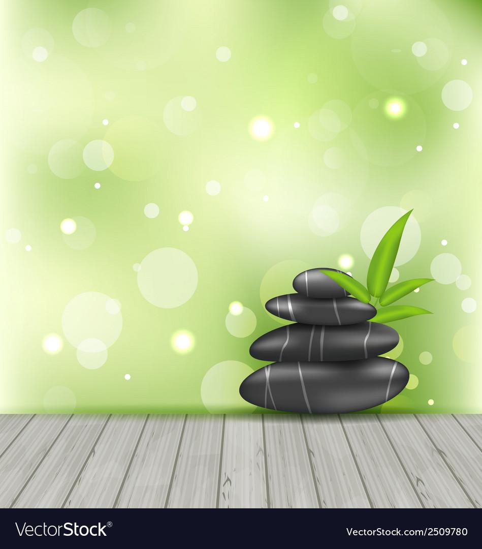 Zen Stones On The Wood Texture Meditative Oriental