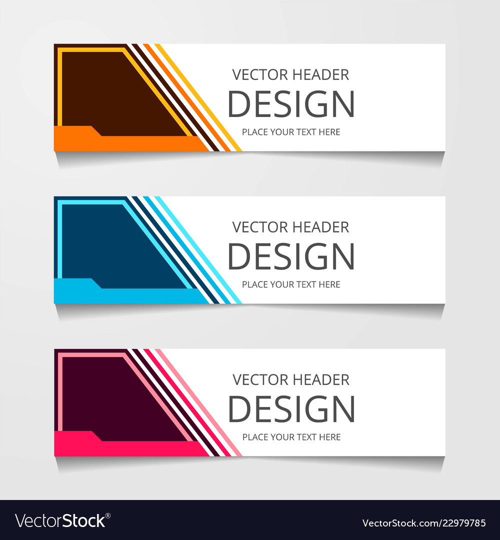 Abstract Banner Design Modern Web Template Vector Image