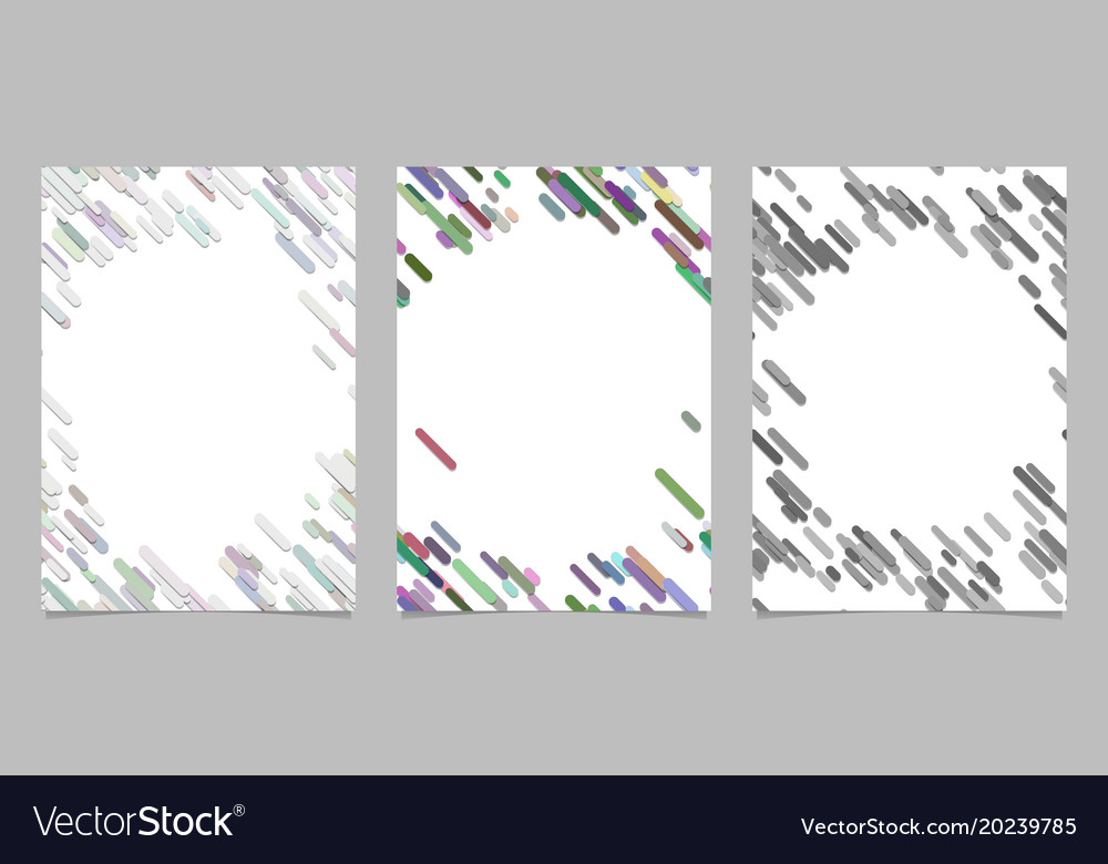 Abstract brochure template set with colored vector image