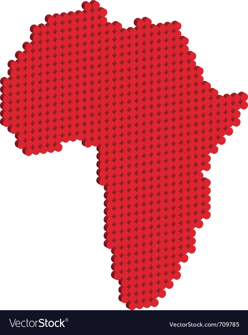 Map Of Africa 3d.Africa Map 3d Royalty Free Vector Image Vectorstock