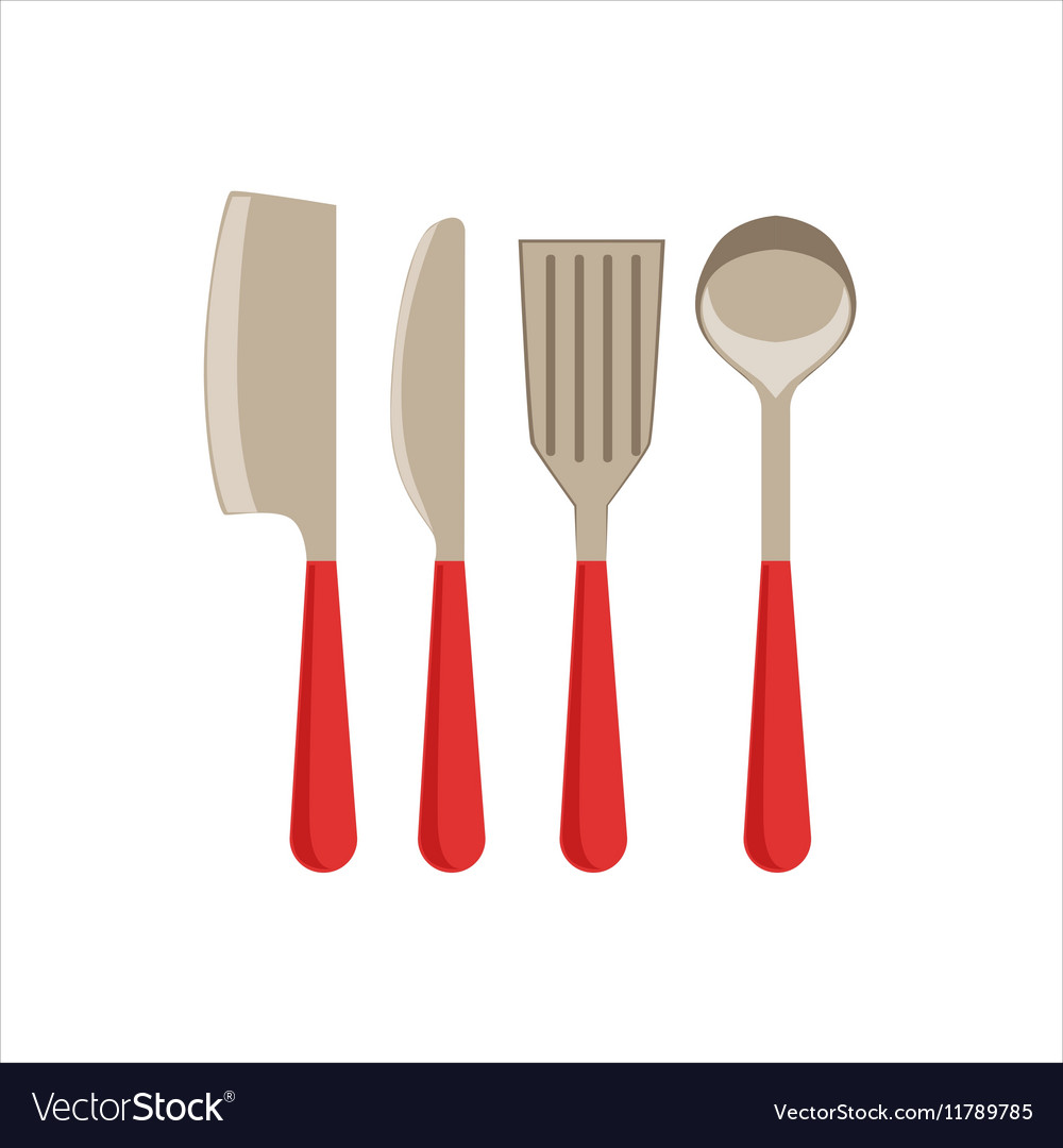 Asian Knife Sarp Knife Spatula And Ladle Set Of