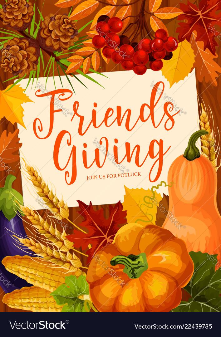 Autumnal friendsgiving potluck dinner