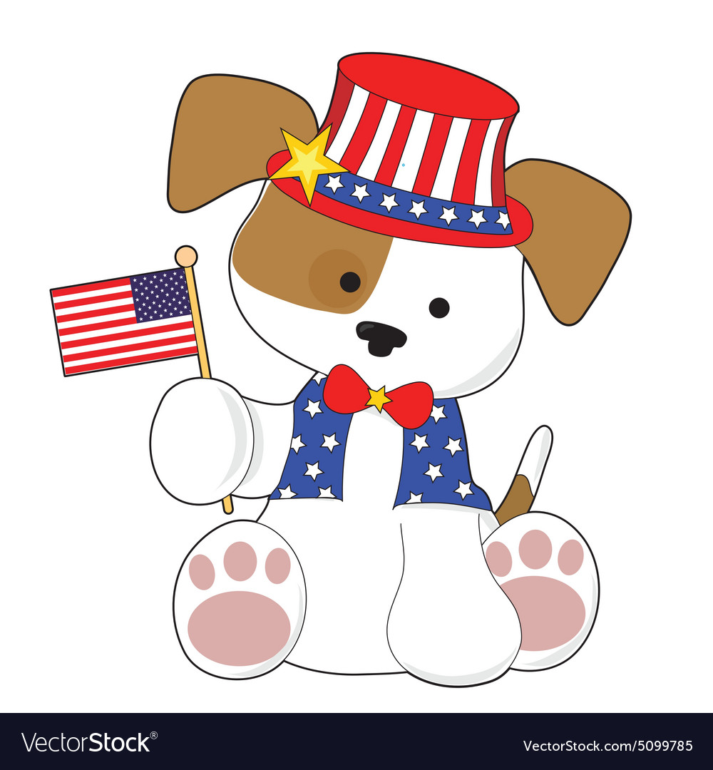 Cute Puppy Fourth of July