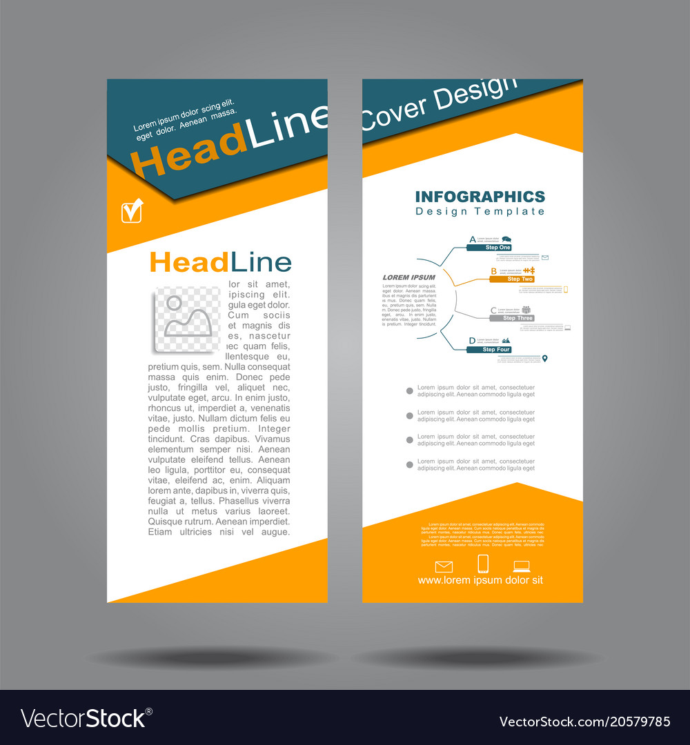 Design Vertical Template Flyer Banner Royalty Free Vector