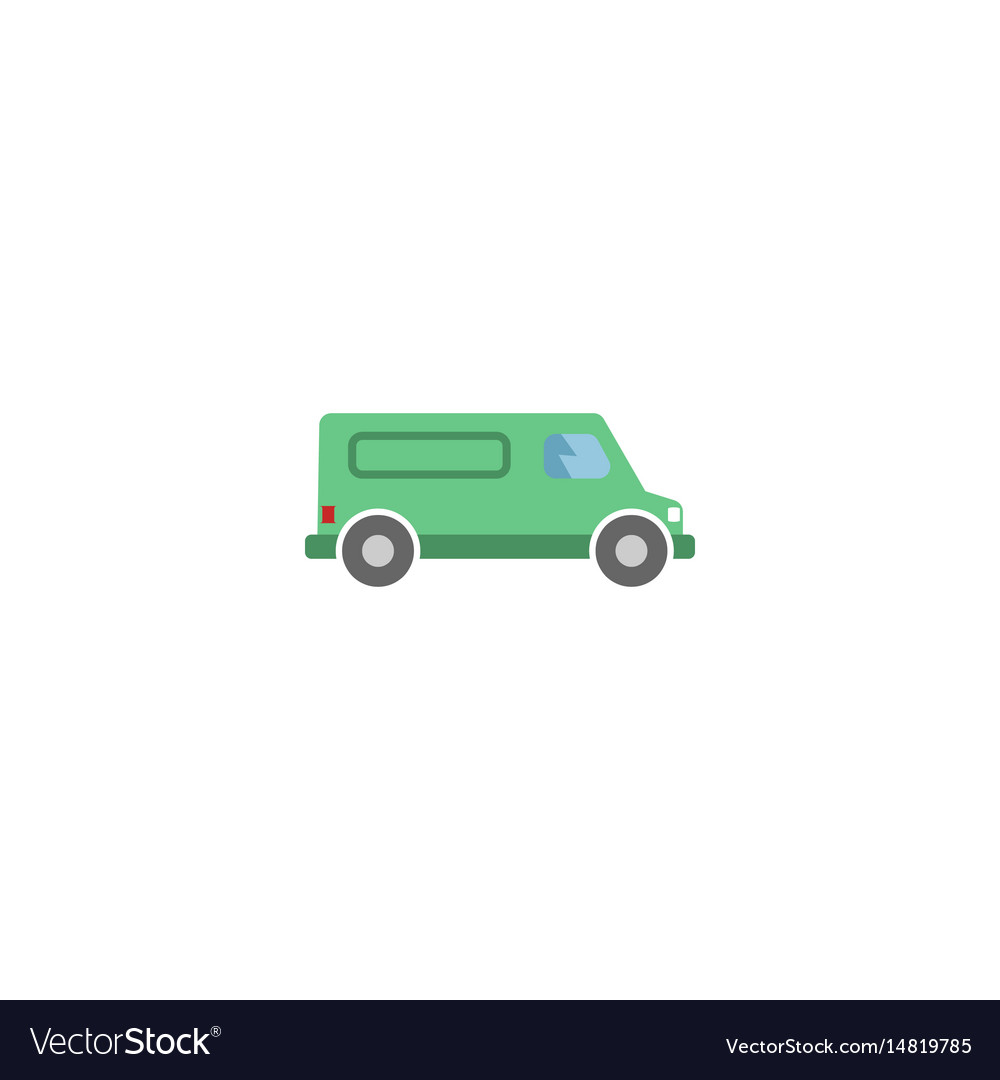 Flat van element of flat vector image
