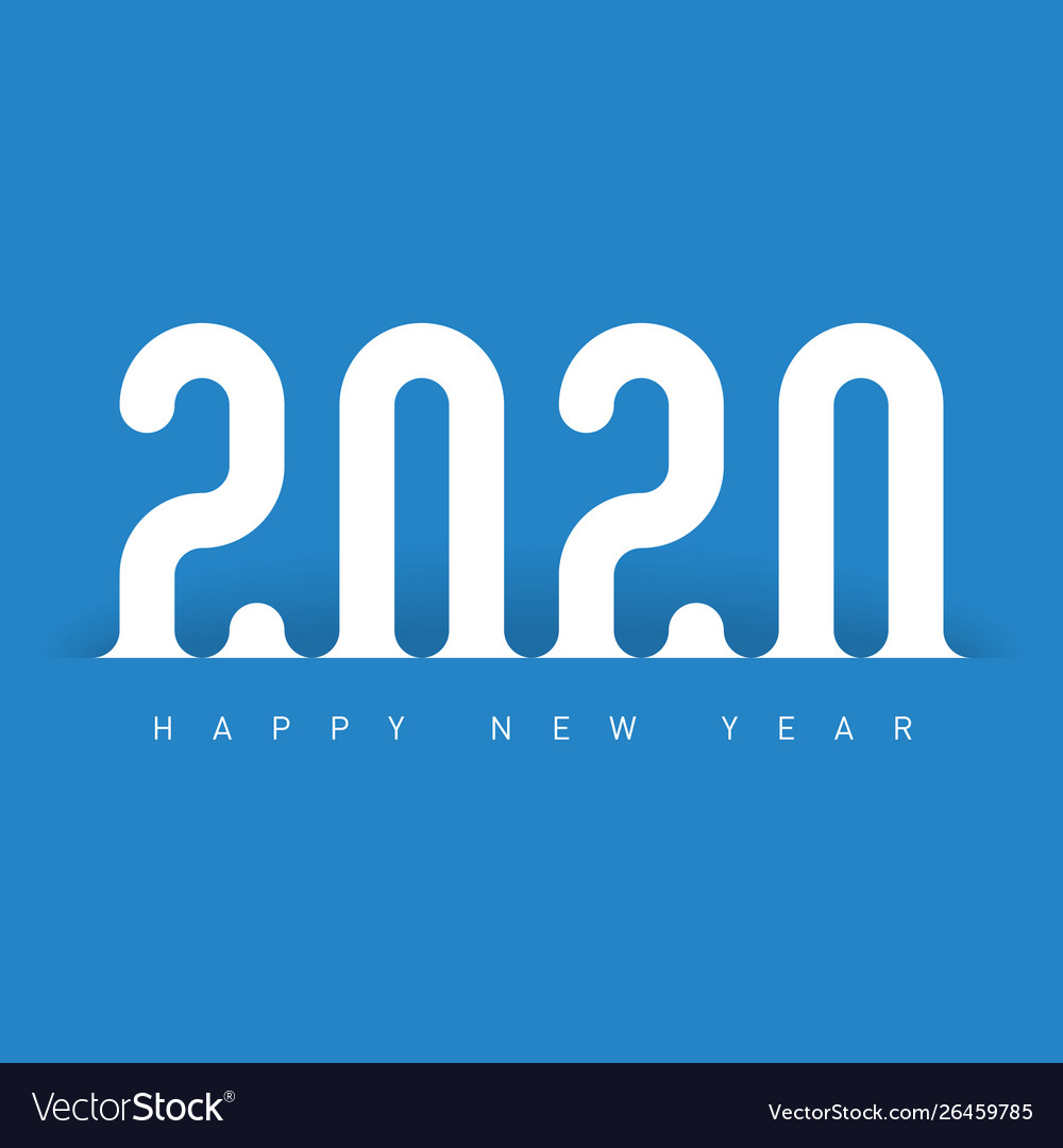 Happy New Year 2020 Greeting Card Cover Of