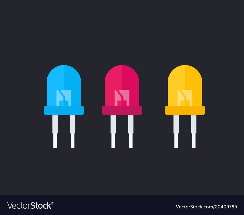 Light Emitting Diodes Vector Image