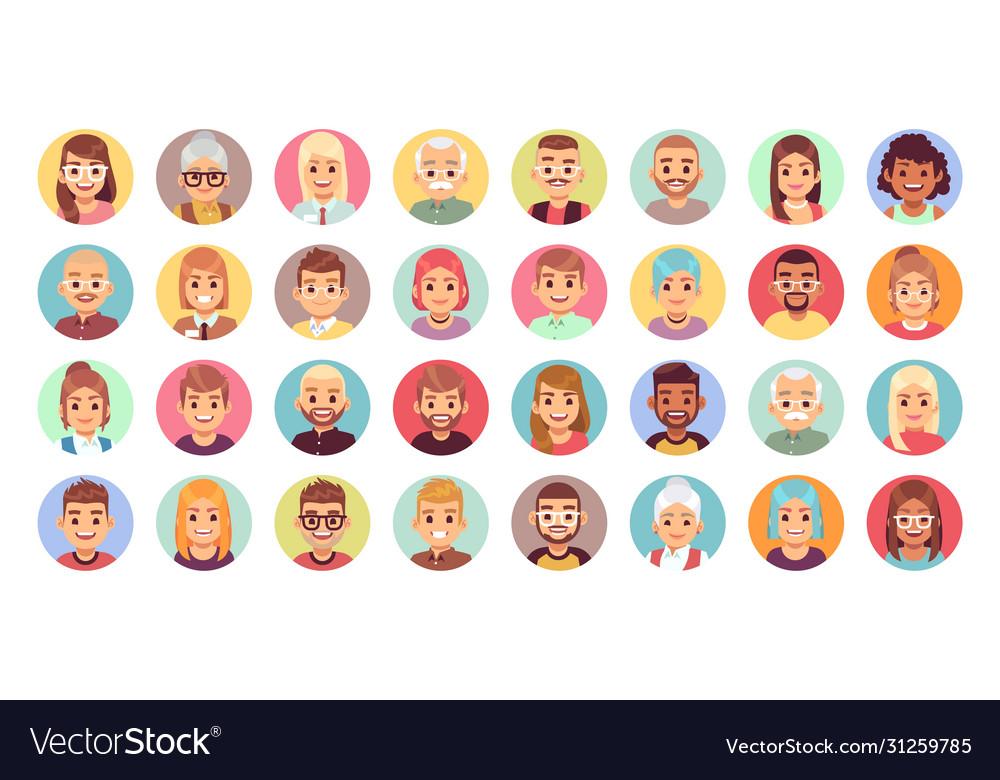 People cartoon avatars diversity office