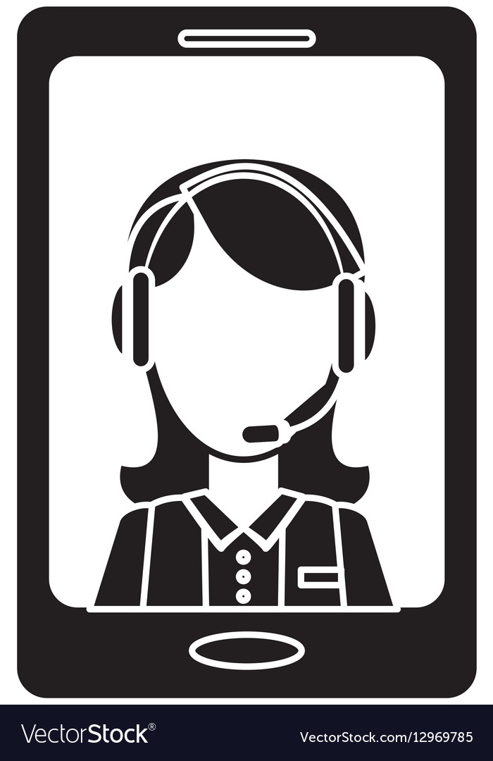 Smartphone technical services icon image vector image