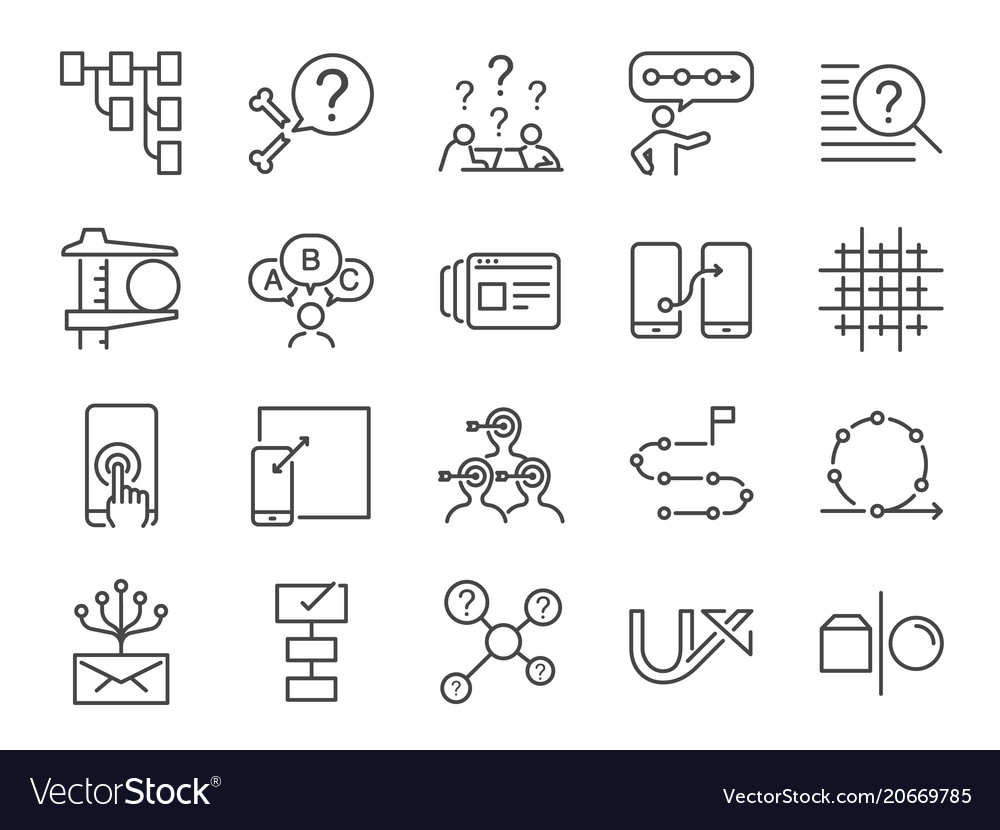 Ux icon set