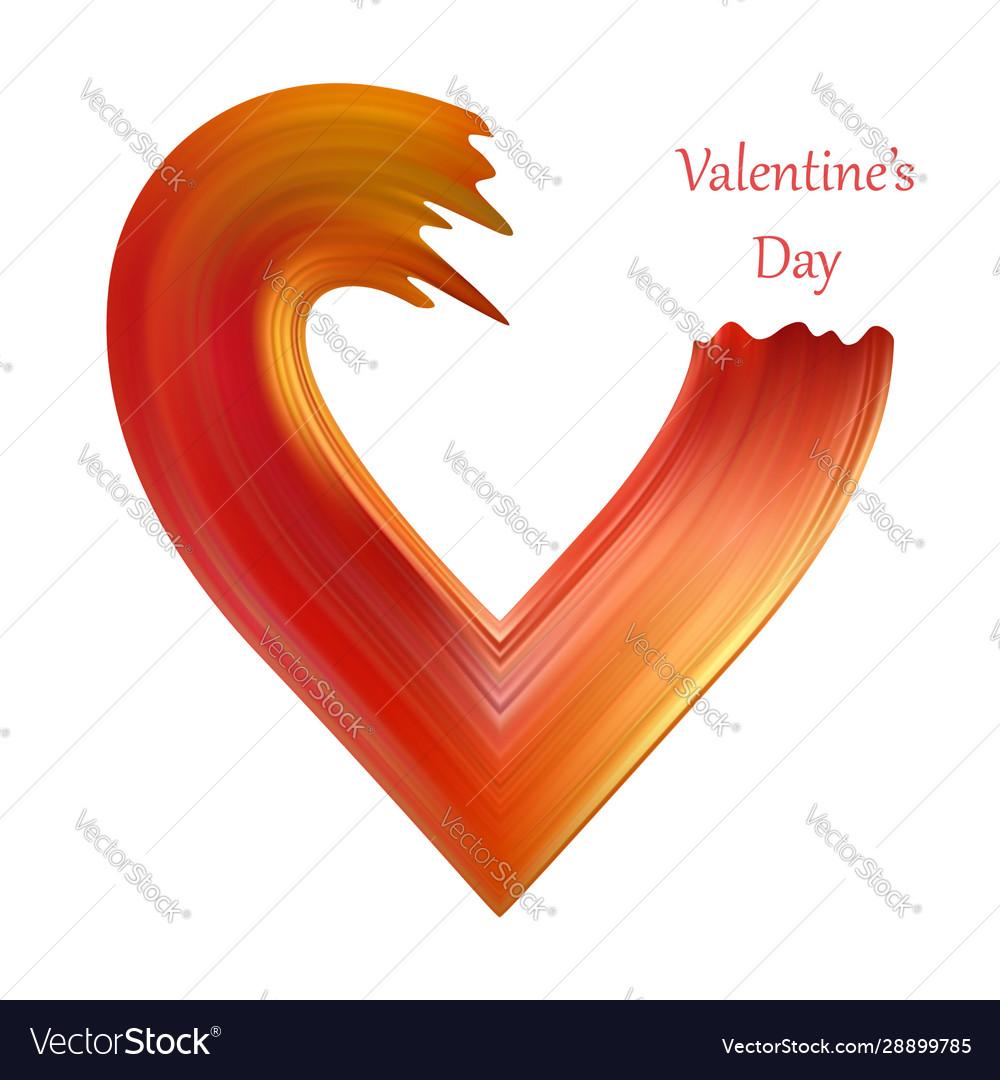 Valentines heart liquid brush shape color
