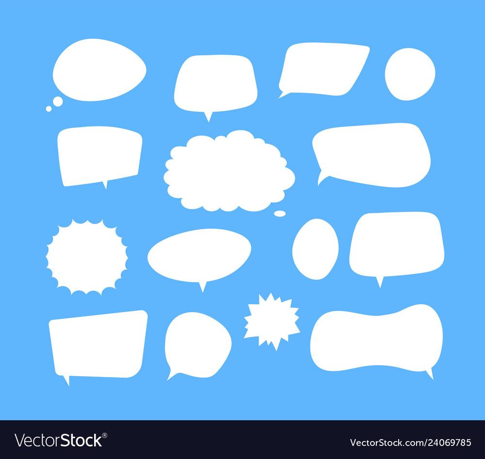 White speech bubbles thinking balloon talks