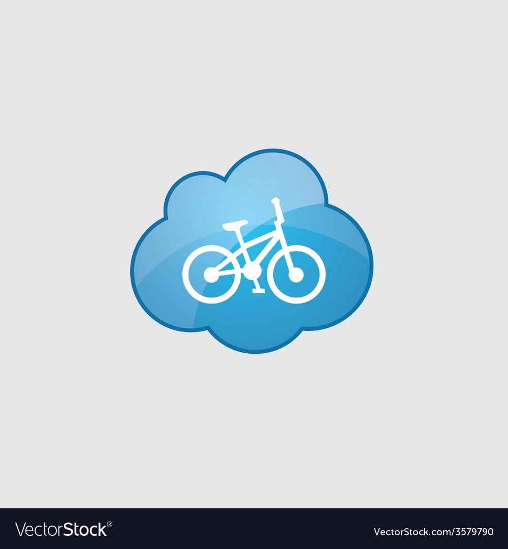 Blue cloud bike icon vector image