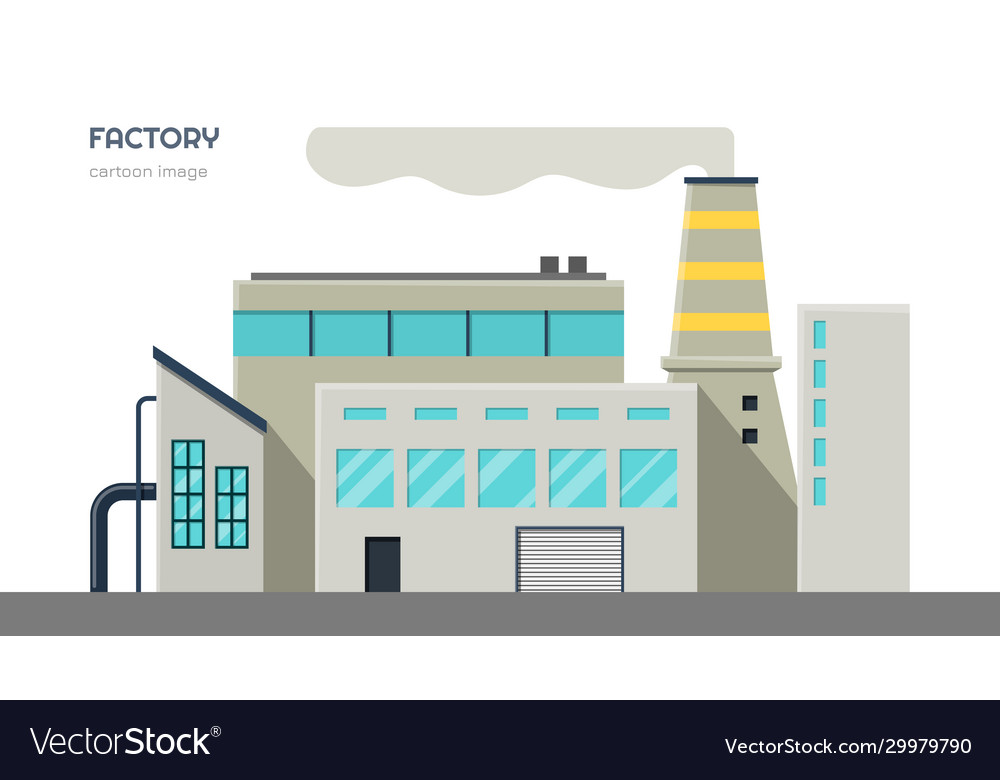 Factory exterior isolated industrial image