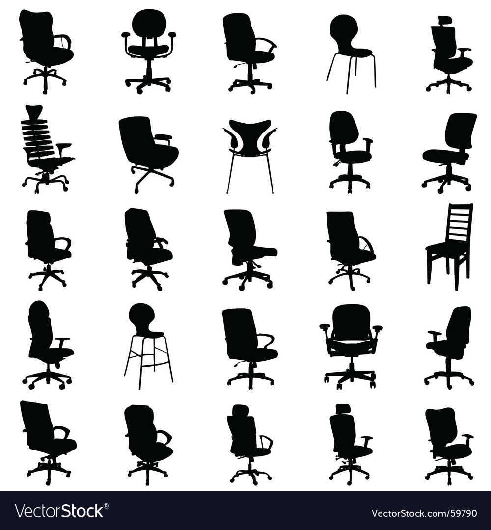 Modern Chairs Vector Image