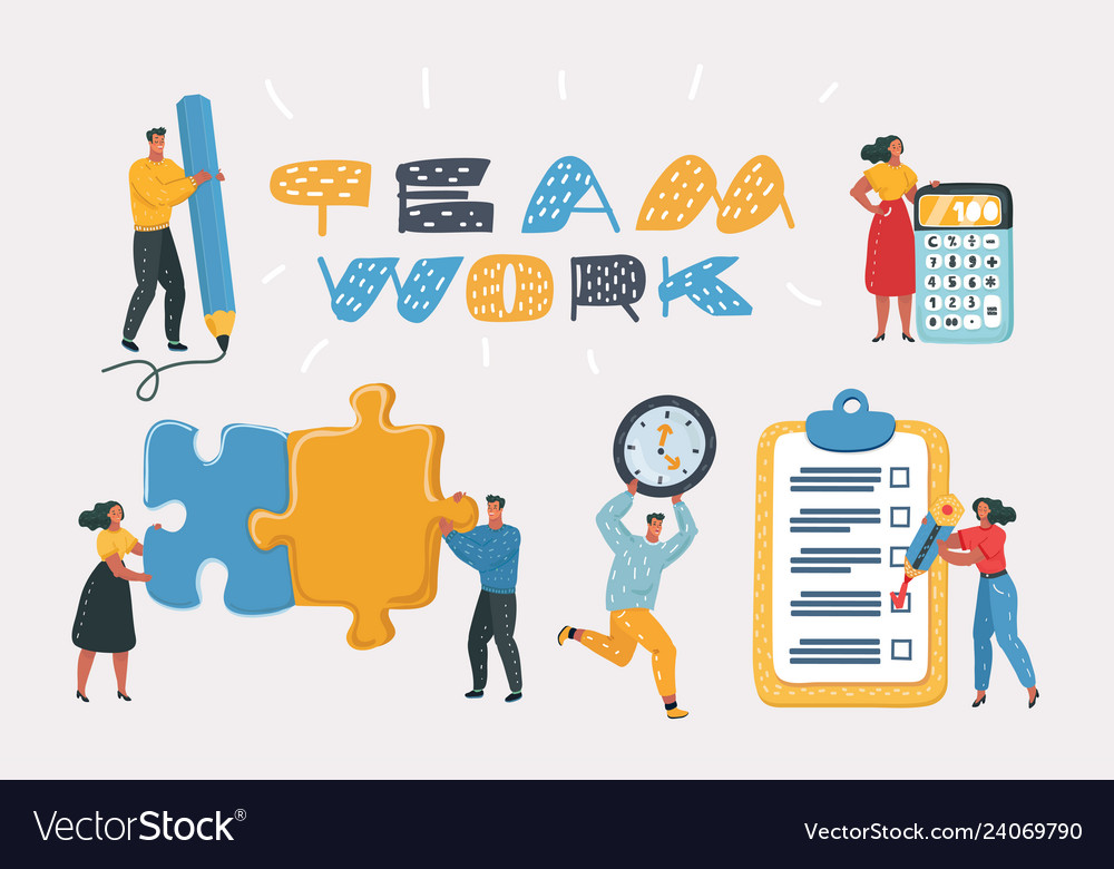 People working together in the company