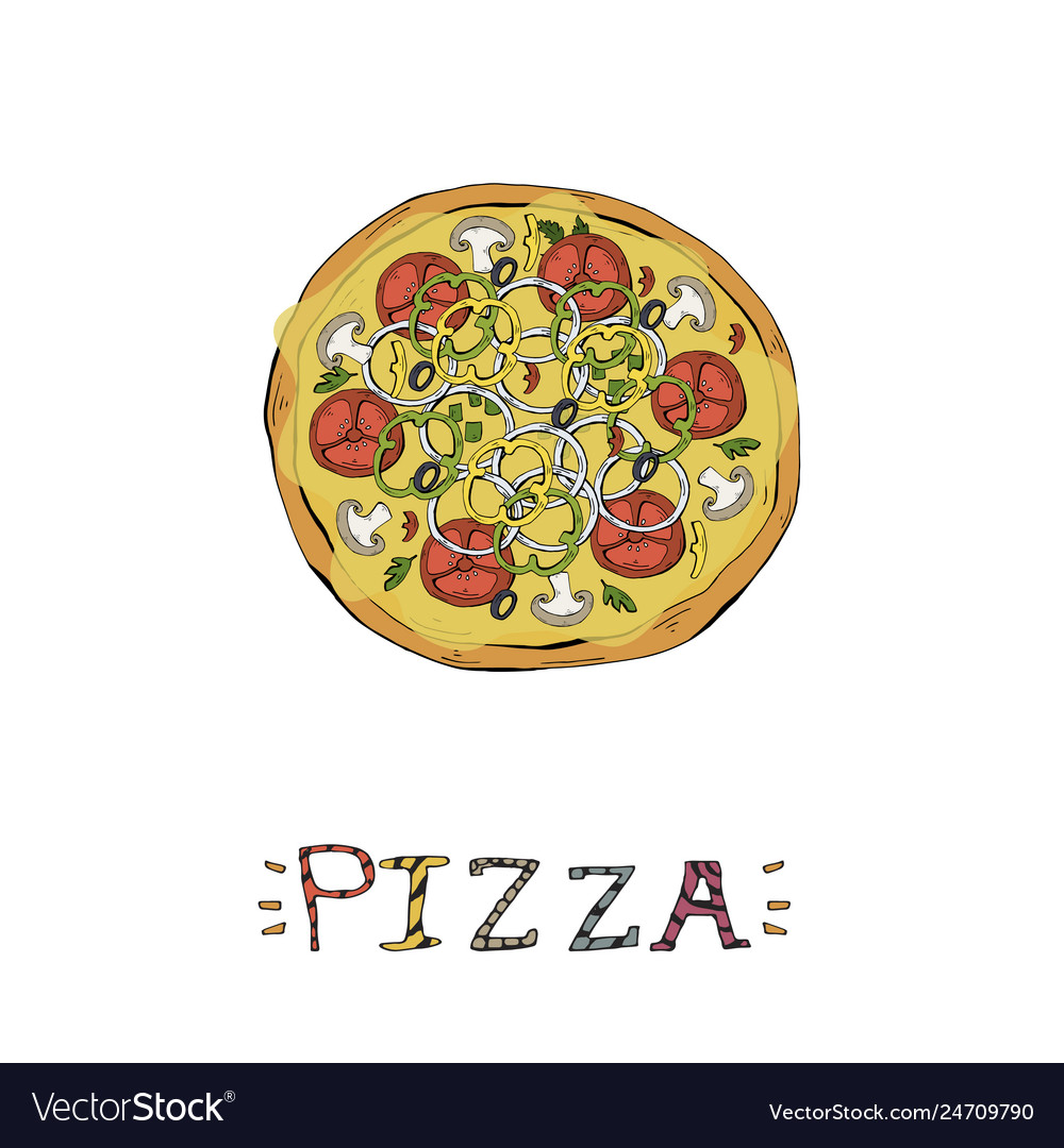 Pizza fast food italian food