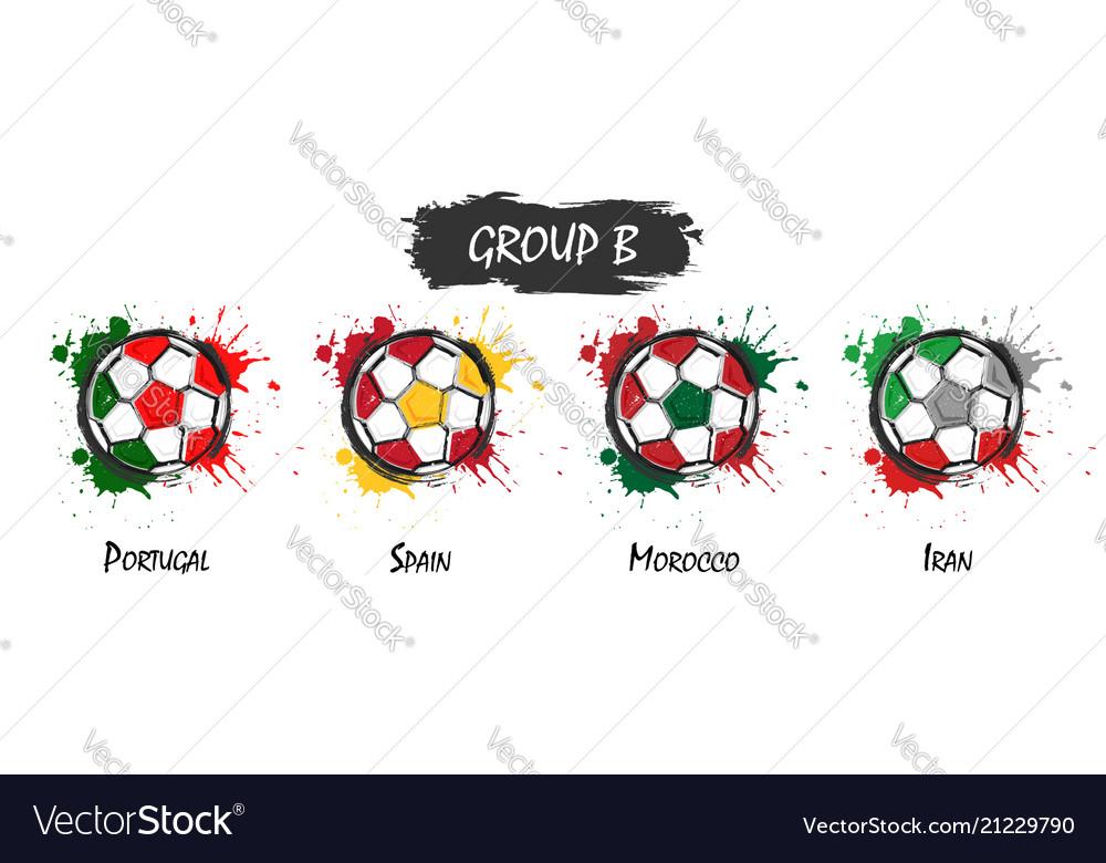 Set of national football team group b