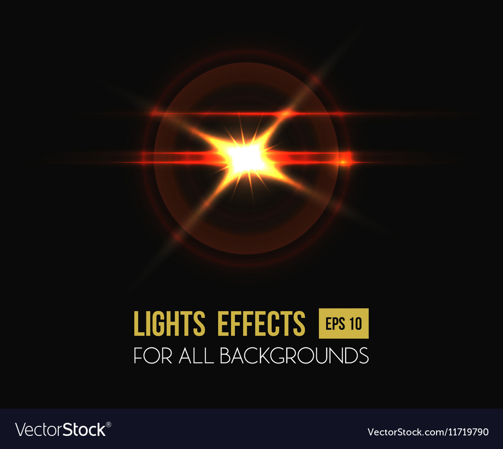 Sun shining through round lens background vector image