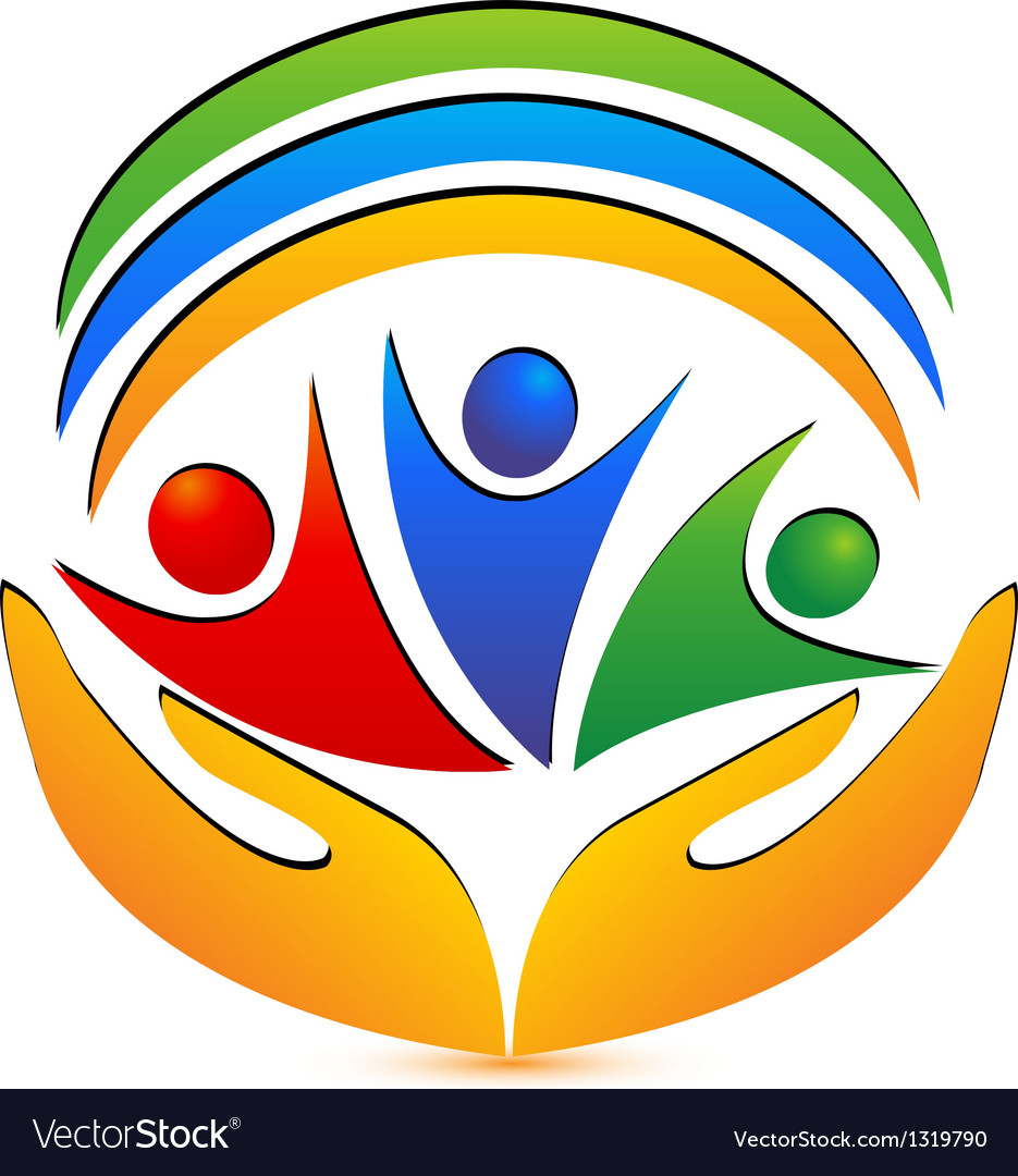 Team people hands and connections logo