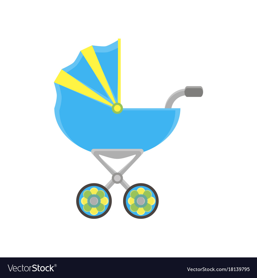 Baby carriage pram icon stroller silhouette
