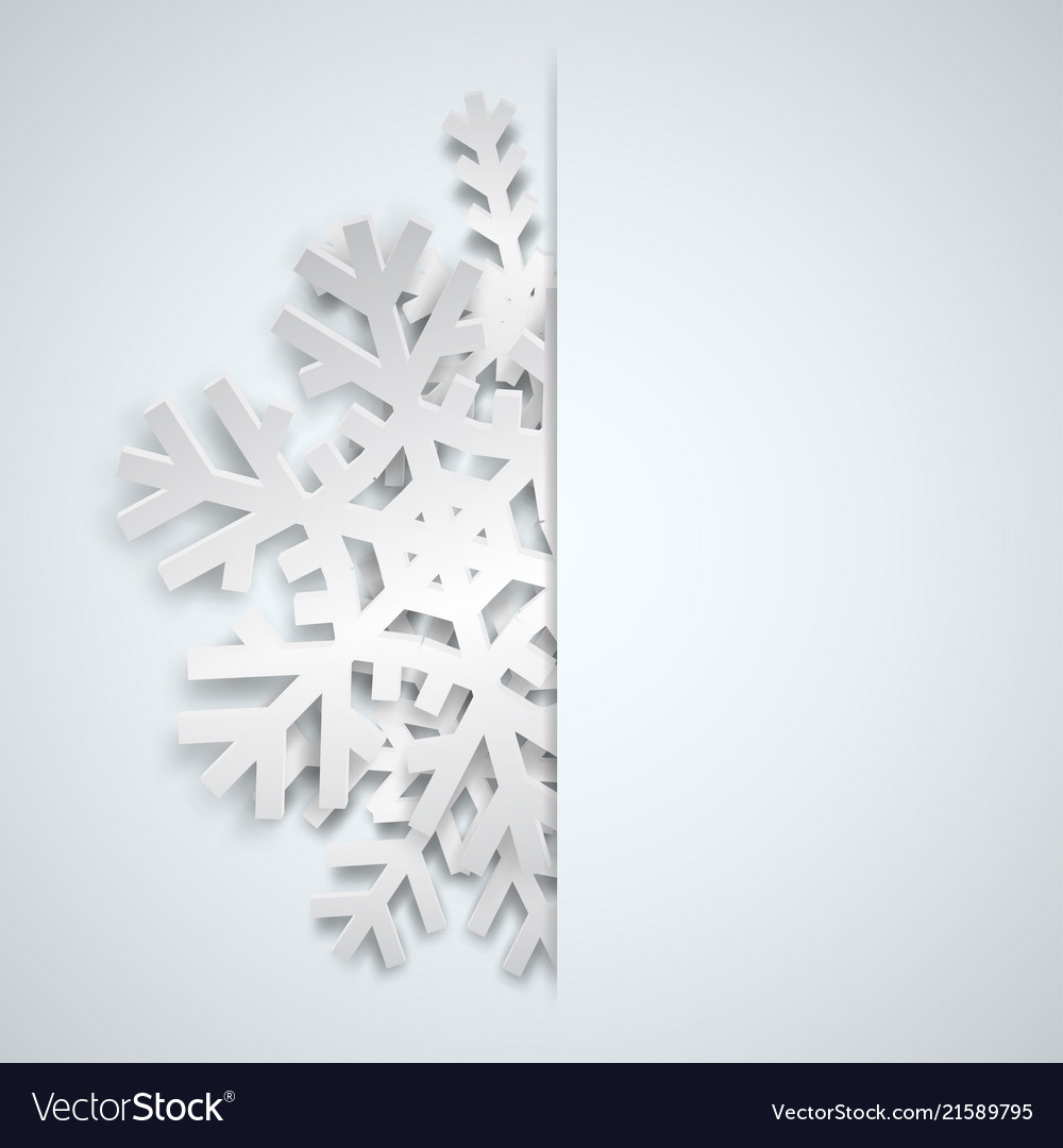 Christmas background with big snowflakes