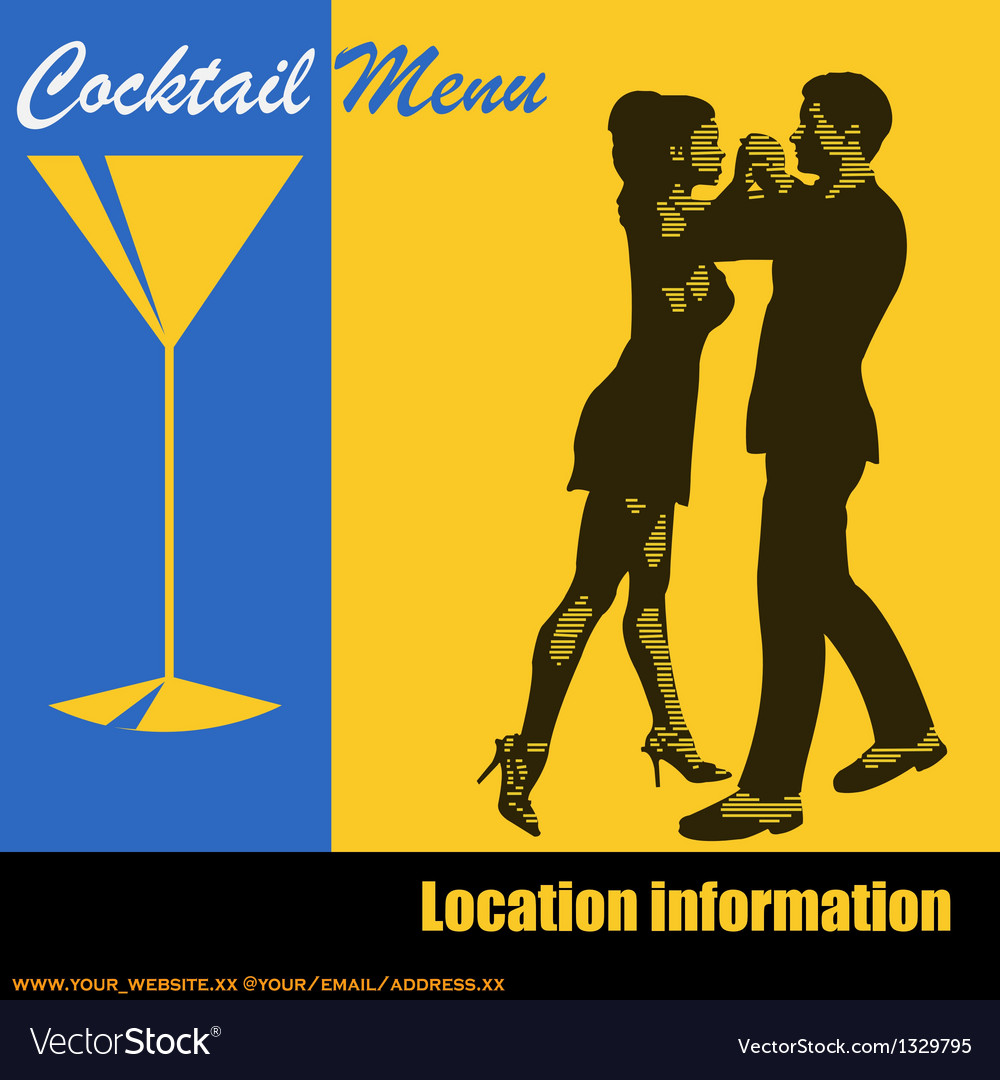 Cocktail Dance vector image
