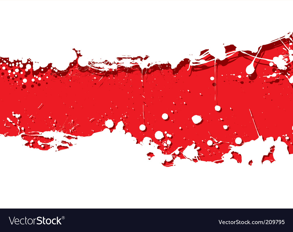 Grunge strip background red splat vector image