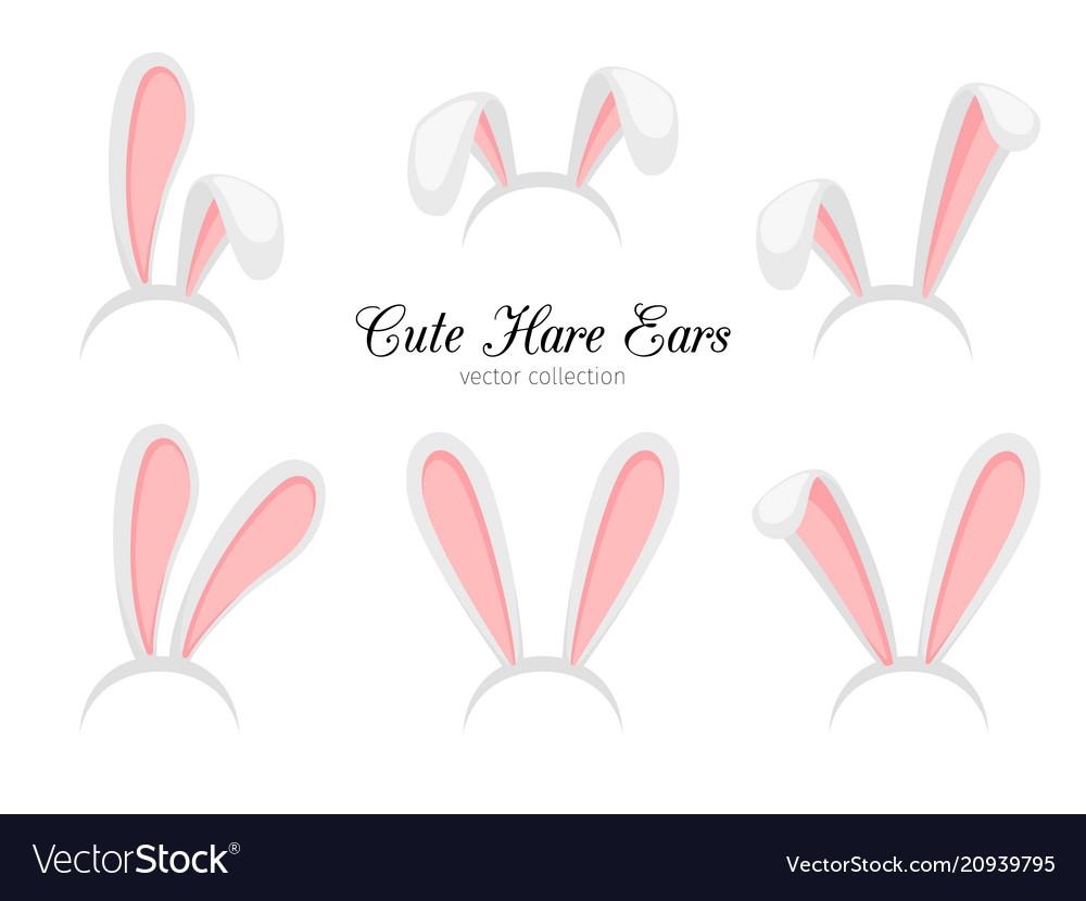Hare ears funny cartoon easter rabbit or