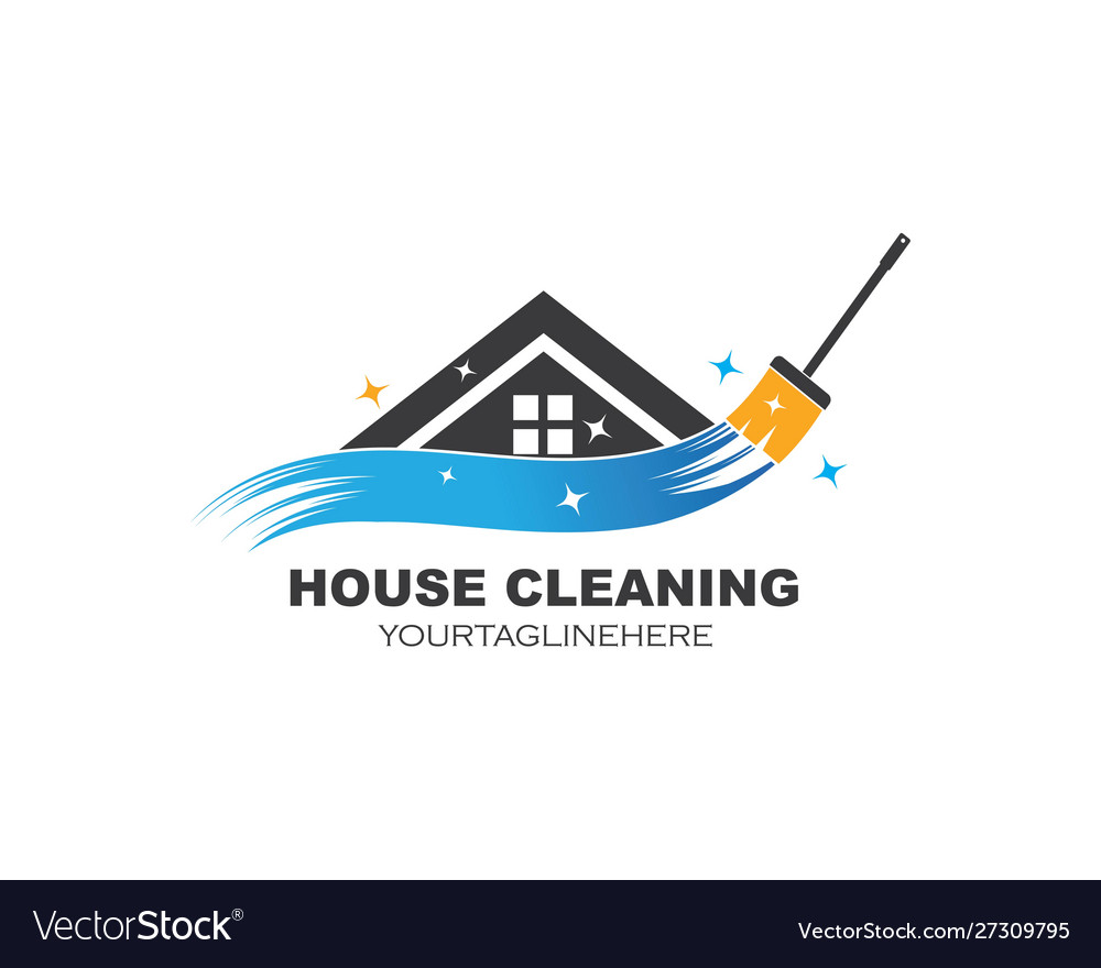 House Cleaning Service Icon Logo Royalty Free Vector Image