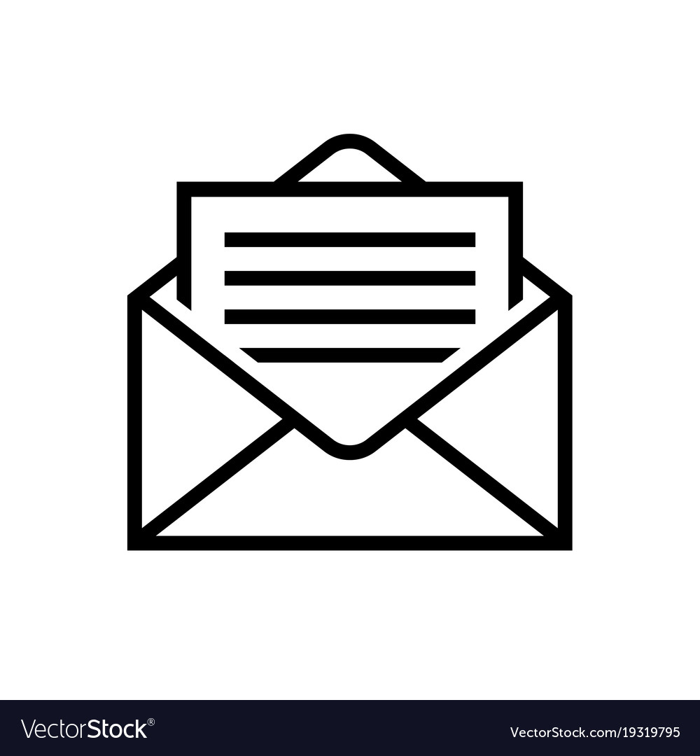 Mail Icons Letter In Envelope Mail Delivery Symbol