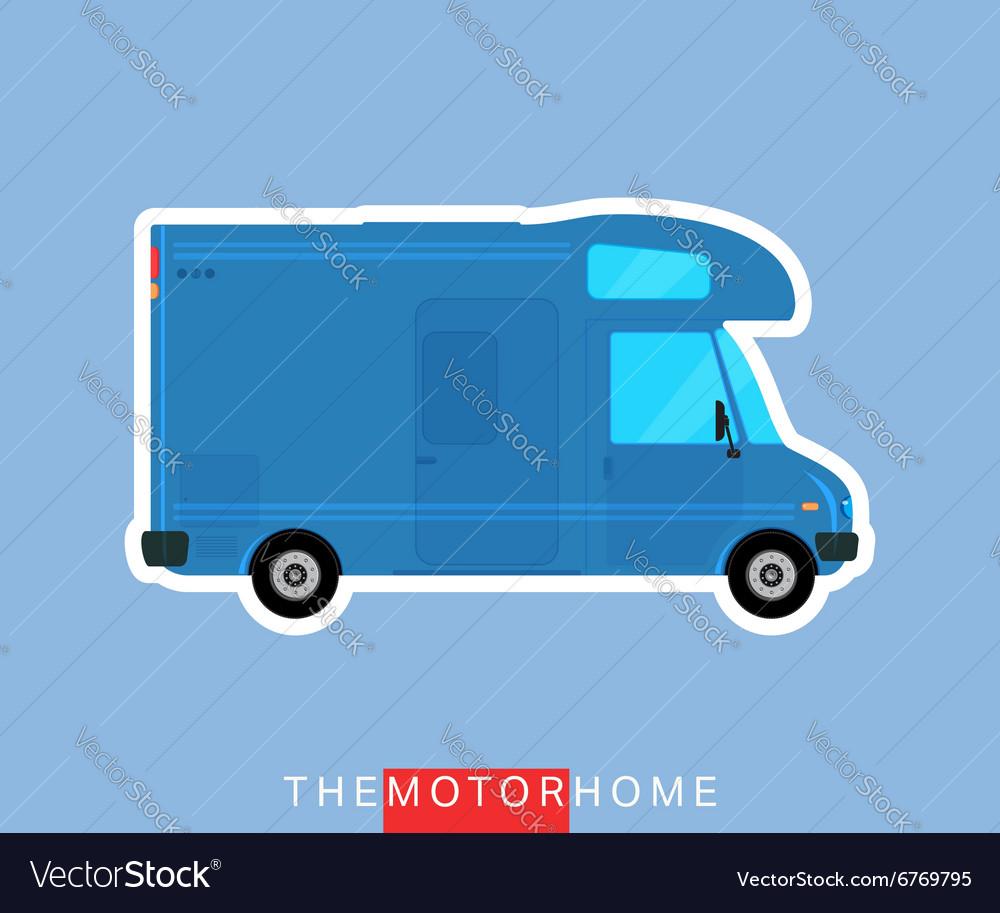 Motorhome vehicle isolated