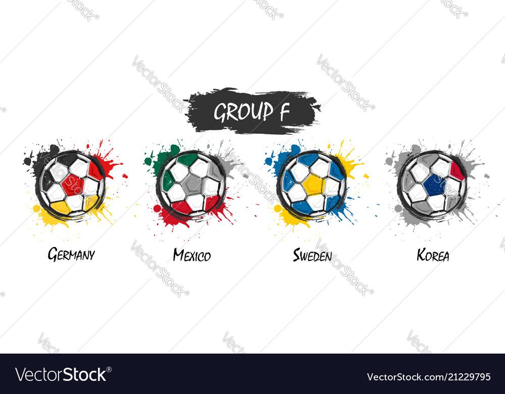 Set of national football team group f